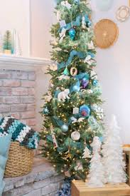75 Flocked Slim Christmas Tree by Christmas Best Slim Christmase Ideas On Pinterest Skinny Home