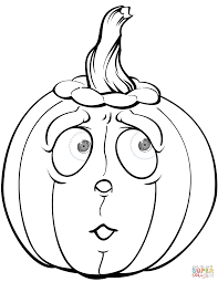 Scary Faces For Pumpkins Template by Scared Pumpkin Coloring Page Free Printable Coloring Pages