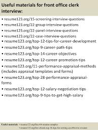 Front Office Job Resume by Office Clerk Job Description Summer Internship Report On