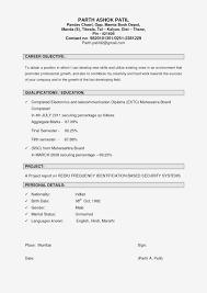 Mba Fresher Resume Format Doc Lovely Objective Inside Ideal Teacher Ob Full Size