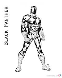 Black Panther Coloring Page Pages Of Marvel Movie Free Printable For Teenagers