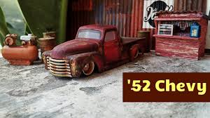 100 52 Chevy Truck Custom Hot Wheels Chevy Truck C10 Rusty YouTube