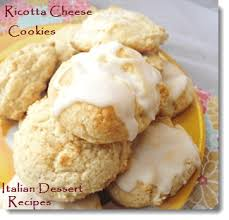 ricotta cheese cookies with optional lemon glaze icing