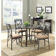 mainstays 5 piece faux marble top dining set walmart com