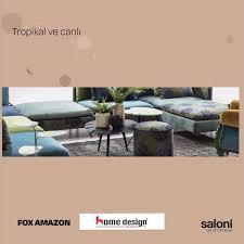 tropikal ve canlı renkli ve farklı akaslan mobilya home design