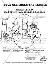 Matthew 21 Jesus Cleanses The Temple Sunday School Crossword Puzzles