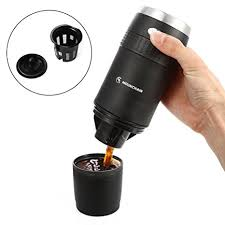 Portable Coffee Maker Mini Travel K Cup Brewer With Reusable Kcup