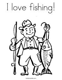 Dazzling Design Ideas Fishing Color Pages Fisherman Coloring Page