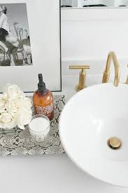 brushed gold faucet contemporary bathroom madison taylor design