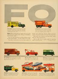 1956 Ad Ford Triple Economy Trucks Cargo Transportation - ORIGINAL ...
