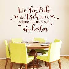 huis wandtattoo küche wo die liebe den tisch deckt
