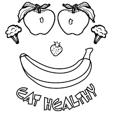 Healthy Food Colouring Pages Free Coloring Printable Eating Foods For