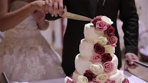Tiered Wedding Cake With Rustic Stock Footage Video 13879613