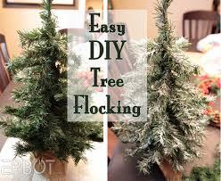 Flocking Artificial Christmas Trees by Epbot Easy Diy Tree U0026 Wreath Flocking Redux