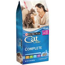 high protein cat food purina cat chow complete cat food 6 3 lb bag walmart