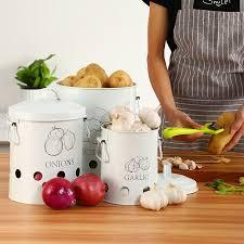 2 oder 3 pcs küche lagerung box container kartoffeln zwiebeln bin organisation eimer metall gemüse flasche jar küche artikel