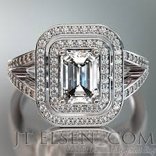 Emerald Cut Diamond Engagement Ring Enlarge