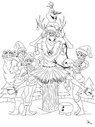 Disney Frozen Christmas Coloring Pages
