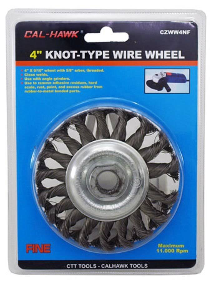 "Cal-Hawk 4"" Knot-Type Wire Wheel"