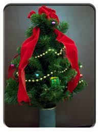 Christmas Tree For Cemetery Vase