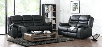 piece power reclining sofa set black color fabric and loveseat