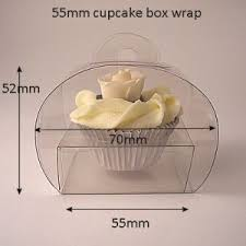 Clear Wrap Style Cupcake Boxes 55mm