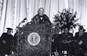 winston churchill s iron curtain speech predicting the cold war