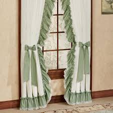 Plum And Bow Lace Curtains by Ruffled Kitchen Curtains Home Design Ideas And Pictures