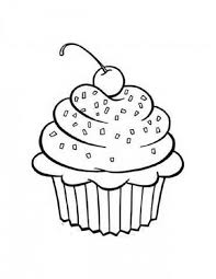Happy Birthday Cupcake Coloring Page High Quality