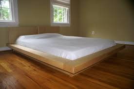 simple japanese style floating platform bed frame king size