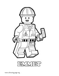 Emmet Lego Coloring Page Free Printable