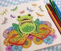 Coloring Book Frog Enchanted Forest Sapo Floresta Encantada Johanna Basford