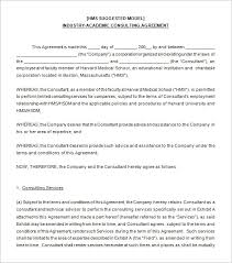 Academic Consulting Agreement Sample Download
