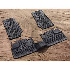 07 13 Jeep Wrangler Unlimited 4 Door Mopar Rubber Slush Floor Mats
