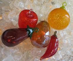 Glass Blown Pumpkins Seattle by Fruit Ornaments Seattle Art Glass Gallery U0026 Glass Blowing Studio