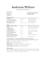 Actors Resume Sample Beginner Acting Kids Child Actor Example