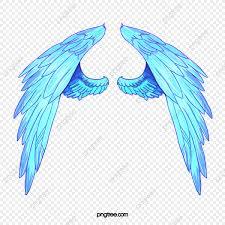 Alas De Angel Pintado A Mano De Estilo Azul Alas De Angel