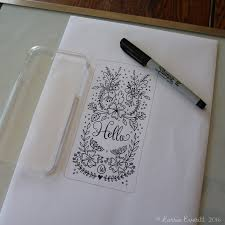 Decorating Fabric With Sharpies by Lorrie Everitt Studio Personalize Your Clear Phone Case Using