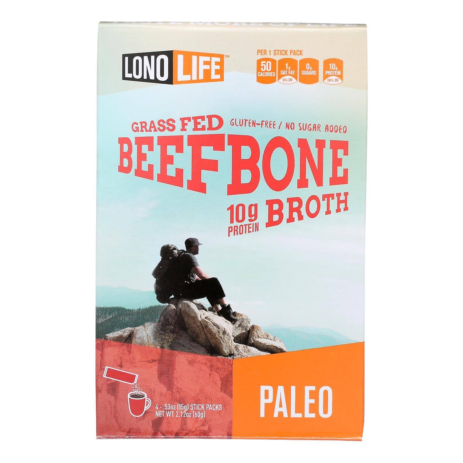 LonoLife Grass Fed Paleo Bone Broth Beef 4 Stick Pack(s)
