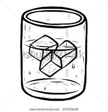glass of water clipart black and white 5