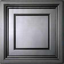 Black Drop Ceiling Tiles 2x2 by Ceilume Madison Black 2 Ft X 2 Ft Lay In Coffered Ceiling Panel