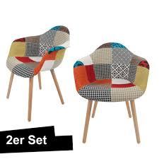 stuhl design patchwork schalenstuhl esszimmerstuhl wohnzimmerstuhl bunt