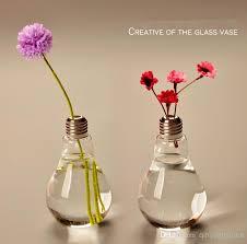 pack glass vases home decoration bulb vases wedding decor