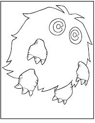 Yu Gi Oh Kuriboh Monster Coloring Picture For Kids