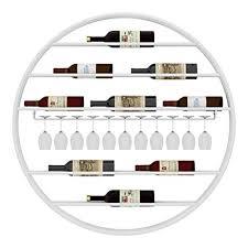 jbnjv runde metallwand weinregale flasche stemware halter glas display regale lagerregale für bar zubehör d eacute cor anwendung schwarz weiß
