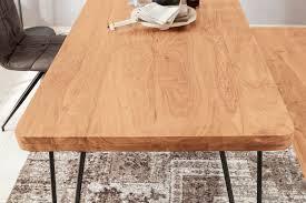 esstisch bagli massivholz akazie 120x76x80cm esszimmer tisch küchentisch modern landhaus stil