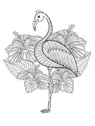 Cute Flamingo Coloring Page For Adults To Print At Home