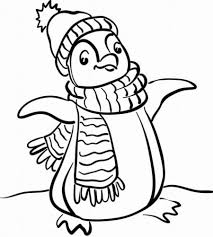 Penguin Coloring Pages Winter 2