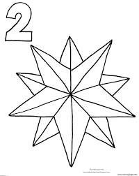Christmas Star Countdown Coloring Pages Print Download