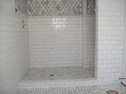 stylish small shower bathroom ideas white subway tile shower floor